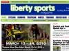 Liberty Sports - IA, Design, Concept, Coding, WordPress Development (no longer published)