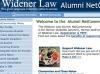 Widener Law Alumni Net Community Wireframe Concept