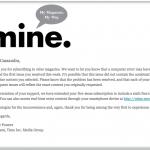 Mine magazine notification