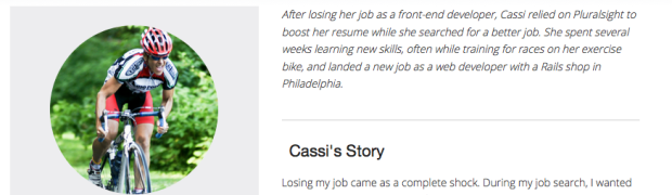 Pluralsight stories, Cassi's story